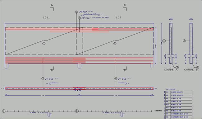 logiciel de calculs b ton arm et plans b ton arm logiciel de plans de ferraillage. Black Bedroom Furniture Sets. Home Design Ideas
